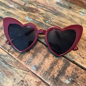 Vintage Red Heart Sunglasses